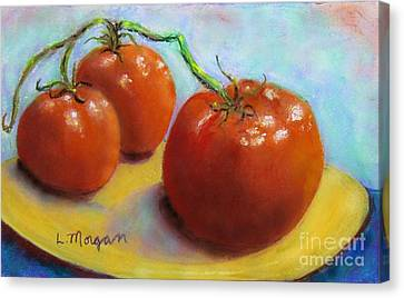 Red Ripe And Ready Canvas Print by Laurie Morgan