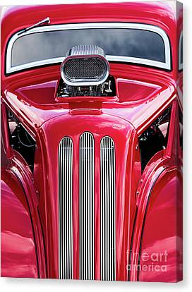 Custom Ford Canvas Print - Red Roadster by Tim Gainey