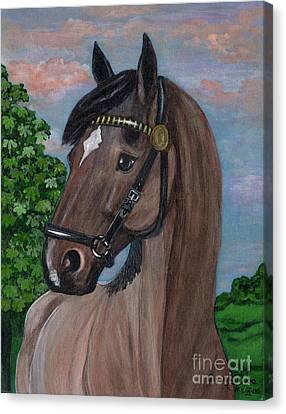Polonia Artists Canvas Print - Red Roan Horse by Anna Folkartanna Maciejewska-Dyba