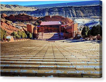 Red Rock Amphitheater Canvas Print by Barry Jones