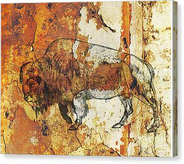 Canvas Print featuring the photograph Red Rock Bison by Larry Campbell