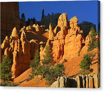 Red Rock Canoyon At Sunset Canvas Print by Marty Koch