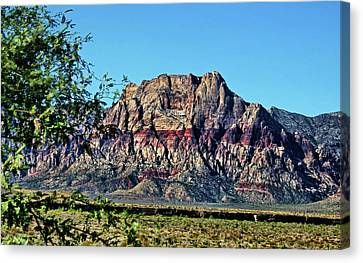 Red Rock Canyon Canvas Print by Judy Vincent