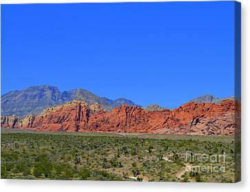 Canvas Print - Red Rock Canyon Nevada - 11 by Mary Deal