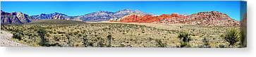 Smokey Mountains Canvas Print - Red Rock Canyon Panorama by Barbara Teller