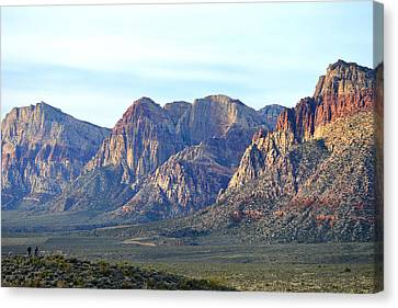 Canvas Print featuring the photograph Red Rock Canyon - Scale by Glenn McCarthy Art and Photography