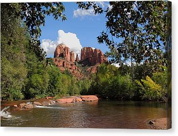 Sedona Mountains Canvas Print - Red Rock Crossing by Gordon Beck