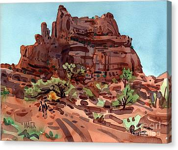 Red Rock  Canvas Print by Donald Maier