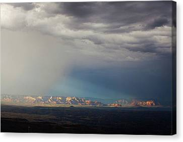 Canvas Print featuring the photograph Red Rock Monsoon by Ron Chilston
