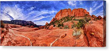 Canvas Print featuring the photograph Red Rock Spirit 2 by ABeautifulSky Photography