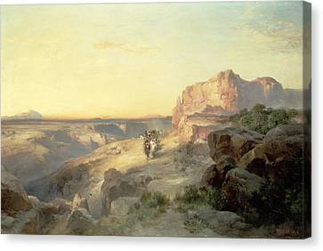 Red Rock Trail Canvas Print by Thomas Moran