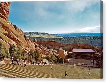 Red Rocks Amphitheater Canvas Print by Stephen  Johnson