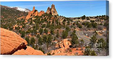 Canvas Print featuring the photograph Red Rocks At High Point by Adam Jewell