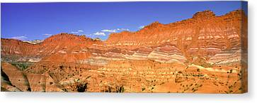 Red Rocks At Old Movie Set, Vermillion Canvas Print by Panoramic Images