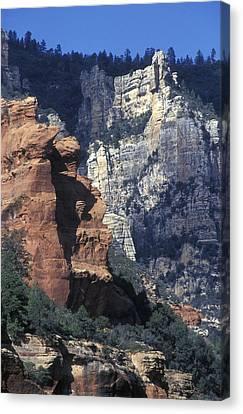 Red Rocks In Oak Creek Canyon At Slide Canvas Print