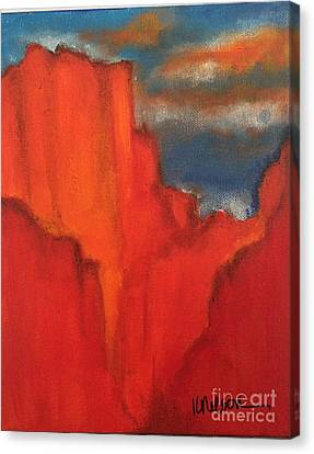 Canvas Print featuring the painting Red Rocks by Kim Nelson