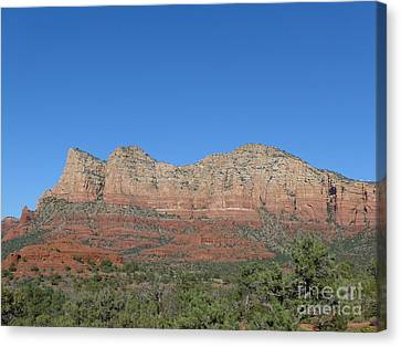 Red Rocks Majesty Canvas Print by Marlene Rose Besso