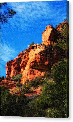 Red Rocks Number Four In Faye Canyon Canvas Print by Bob Coates