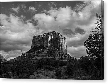 Canvas Print featuring the photograph Red Rocks Sedona Bnw 1 by David Haskett