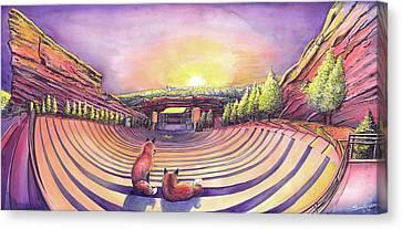 Red Rocks Sunrise Canvas Print by David Sockrider