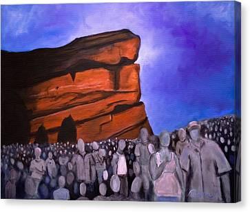 Red Rocks Canvas Print by Tabetha Landt-Hastings