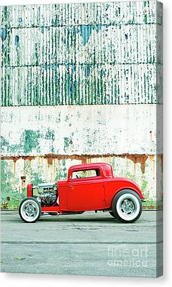 Red Rod Coupe Canvas Print by Tim Gainey