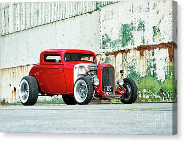 Red Rod Canvas Print by Tim Gainey