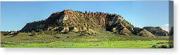 Red Roof Butte Canvas Print by Todd Klassy