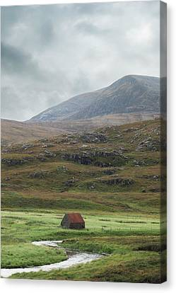 Red Roof Canvas Print - Red Roofed Cottage by Joana Kruse
