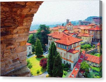 Red Roofs Canvas Print by Jeff Kolker