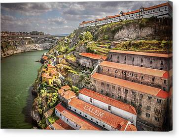 Cellar Canvas Print - Red Roofs Of Porto by Carol Japp