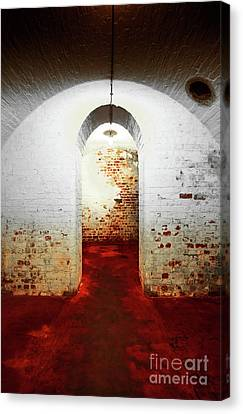 Hidden Canvas Print - Red Room by Svetlana Sewell