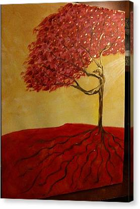 Red Rooted Tree Dancer Canvas Print by Nora Sorensen