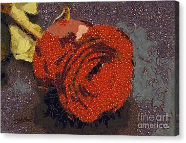 Red Rose Abstract Canvas Print by Shirley Stalter