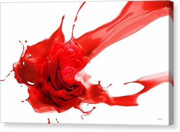 Red Rose Canvas Print by Gabriella Weninger - David