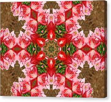 Canvas Print featuring the photograph Red Rose Kaleidoscope by Bill Barber