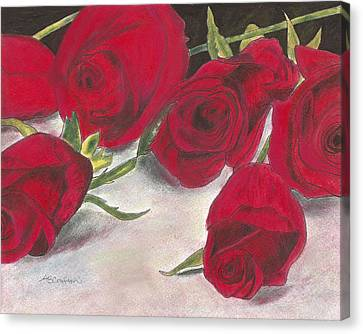 Red Rose Redux Canvas Print by Arlene Crafton
