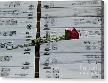 Red Rose Remembrance Canvas Print