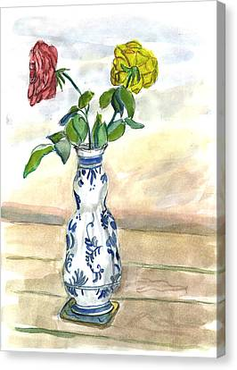 Red Rose Yellow Rose Canvas Print by Kevin Callahan