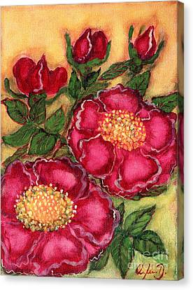 Red Roses Canvas Print by Anna Folkartanna Maciejewska-Dyba