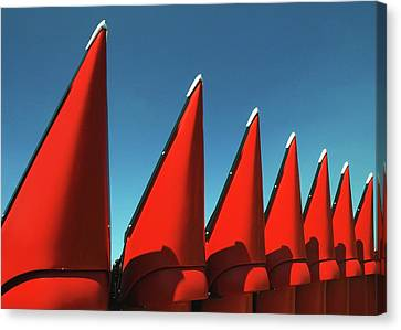 Red Row Canvas Print by Todd Klassy