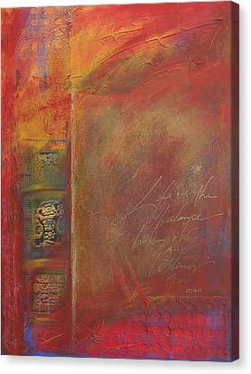 Red Rumi  Canvas Print by Jane Dill