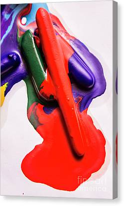 Drips Canvas Print - Red Runs by Jorgo Photography - Wall Art Gallery