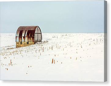 Red, Rusty Roof Canvas Print by Todd Klassy