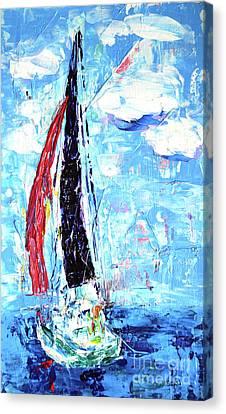Red Sail Canvas Print by Lynda Cookson