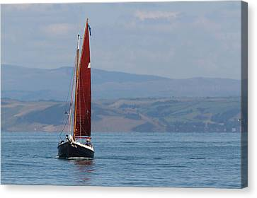 Canvas Print featuring the photograph Red Sail by Richard Patmore