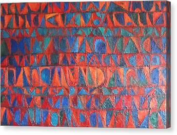 Red Sails At Sunset Canvas Print by Bernard Goodman