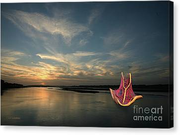 Canvas Print featuring the photograph Red Sails In The Sunset by Carol Lynn Coronios