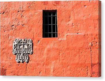 Catherine White Canvas Print - Red Santa Catalina Monastery Wall by Jess Kraft