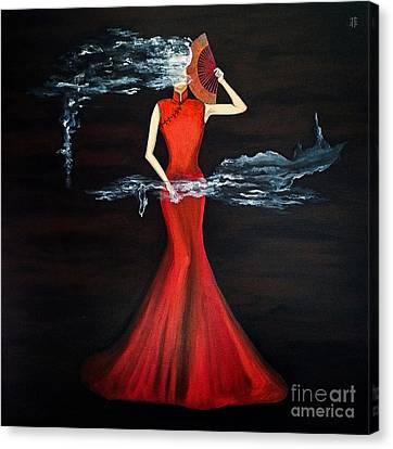 Scented Red Color Canvas Print by Fei A